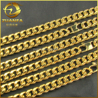 11mm solid gold filled men's diamond cut cuban link curb chain