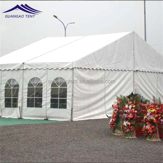 Long life span wedding tent with the idea of a high eaves