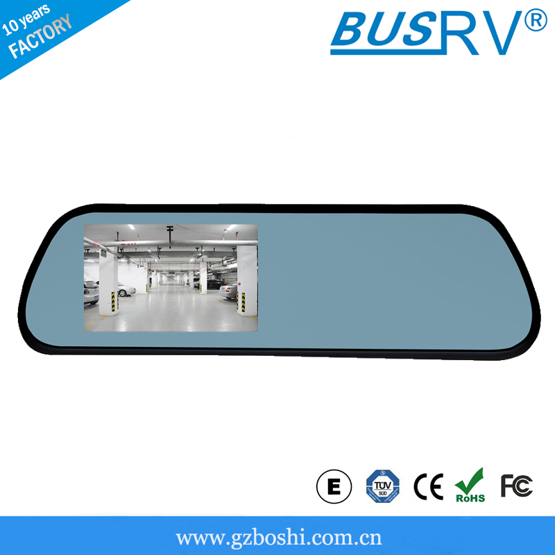 5 inch digital car rearview mirror with gps bluetooth camera SF-5188