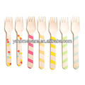 Disposable Printed Wooden Cutlery Wooden Utensils Wooden Silverware Wholesale