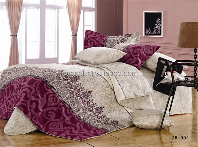 Factory supplier flat sheet king size 3d bedding set