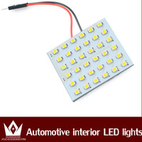 Super Bright 36 SMD 3528 LED reading dome Panel Auto White Light with 3 Defferent Adapters Car LED Interior Light