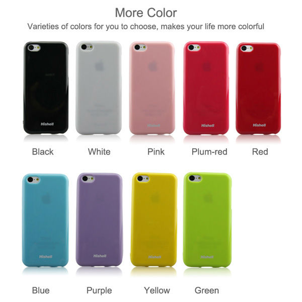 for apple iphone 5c TPU candy color mobile phone case