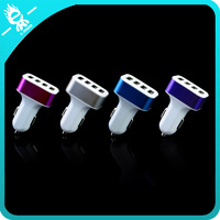 2016 custom usb 4 usb portable car charger with real standard charging