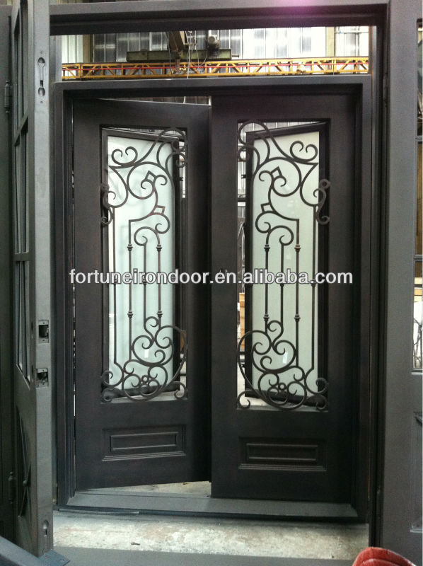 Iron Front Door for home decor/ villa entrance door house designs/ Doors and windows supplier