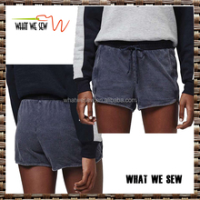 wholesale 100% cotton drop crotch blank swear shorts hot fashion designs crossfit shorts