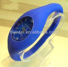 Hot sell silicone wristband slap watch for gift