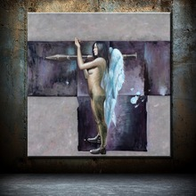 New design of Hot Sexy Nude Girl Painting On Canvas
