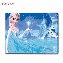 Frozen Movie Pictures Art Painting Diy Paint by Numbers Chinese Painting