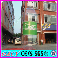 Mineral water bottle advertising inflatable product replicas