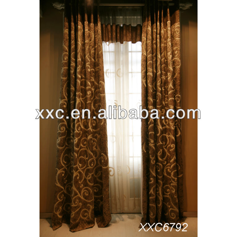 100% polyester fire retardant blackout curtain fabric