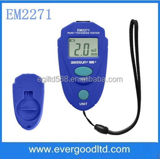 Allsun EM22171 Car Paint Tester EM2271 Paint Thickness Tester with lcd Instrument 0-80mil 0.1MM Coating Thickness Gauge