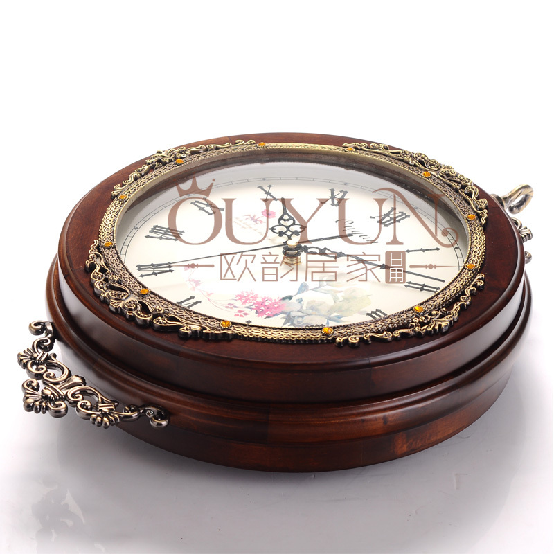 Wholesale Home Decor Antique Large Size Wooden Wall Clock For Elderly