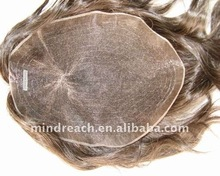 Real human hair toupee hair systems for men hairpieces for hair loss problem