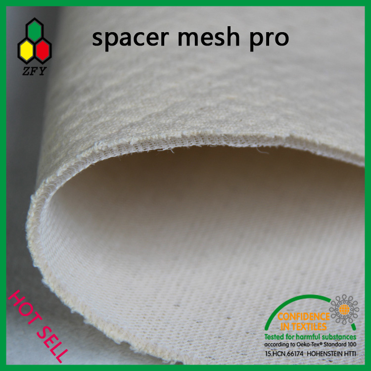 60% bamboo fiber 40% polyester 3d spacer mesh fabric