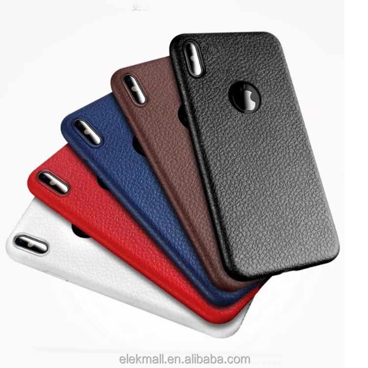 Hot new products leather texture soft tpu phone cover case for iphone 8 case tpu