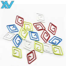 Novelty assorted colors diamond shape metal paper clips bookmark