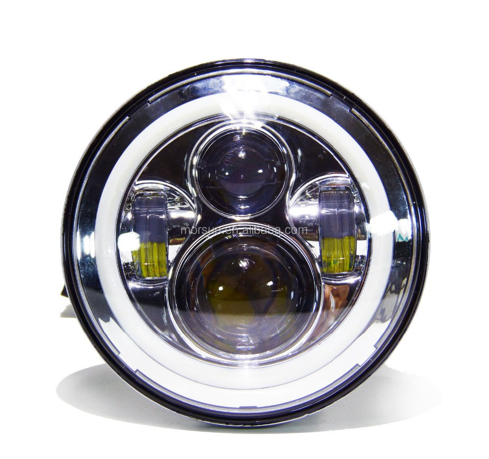 dot approved jeep wrangler 4x4 led headlight 7 for. Black Bedroom Furniture Sets. Home Design Ideas
