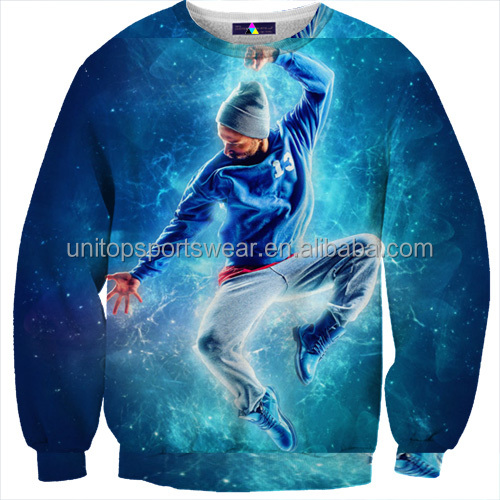 Clothing items for 3d sublimation printing sweatshirt supplier