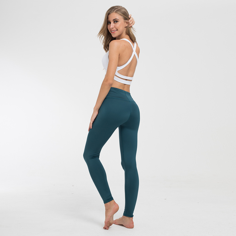 2019 Europe and the United States new moisture wicking yoga pants sports leggings tight fitness pants yoga clothes