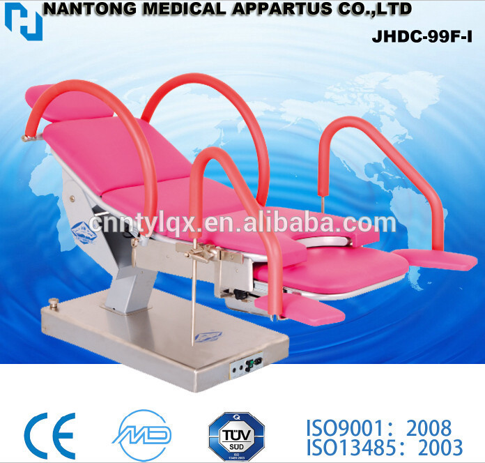 Adjustable electric gynecology examination bed chair exam electric delivery bed table