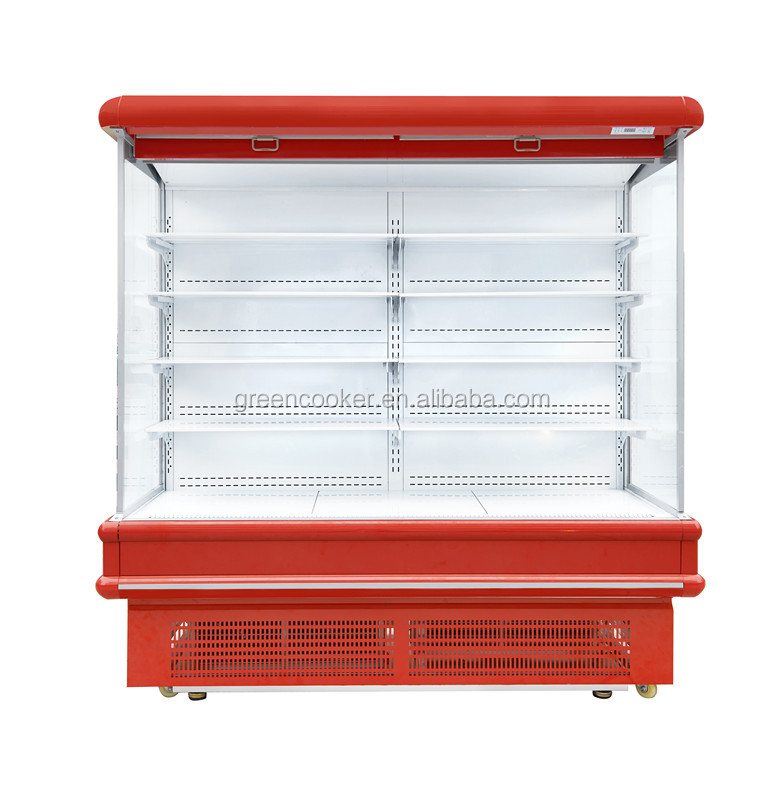 FRUITS&VEGS MULTI DECKS display OPEN CHILLER FOR SUPERMARKET China factory