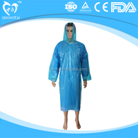 Disposable reversible folding thick raincoat,disposable plastic raincoats