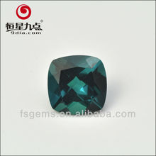 2GC02003A Wholesale Dark Color Cushion Cut Hydrothermal Lab Created Russian Emerald