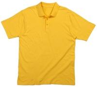 Guangzhou, China, factory custom men's yellow sports loose big yards polo shirt