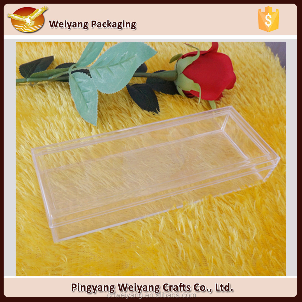 Display Plastic Transparent PS Clear Box rectangular healthy food box