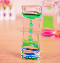 Small hourglass sand timers Desktop Motion Floating Oil Spiral Visual Sensory Aid Kids Toy Gift