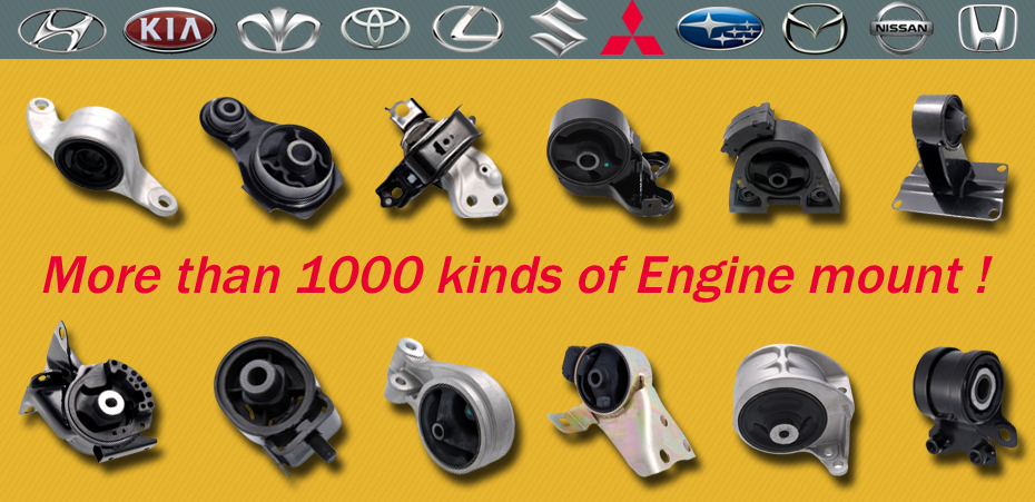 auto parts for mitsubishi pajero spare parts/rubber engine mountings with premium quality and reasonable price