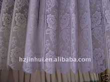 polyester lace striped cafe kitchen curtains