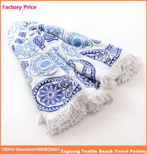 factory price pigment printed 100 recycle cotton round towel beach