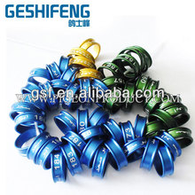 15mm or bigger sizes dark blue,dark green,golden aluminum ring for big pigeons in Arabia area and Australia pigeon market