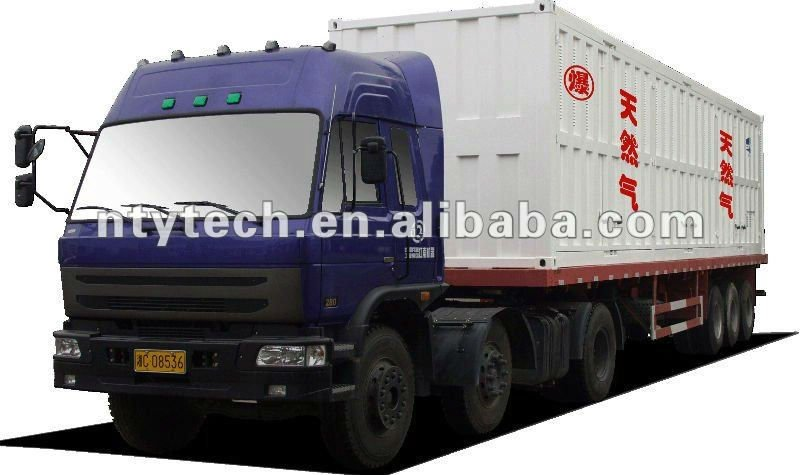 Intelligent Mobile CNG Storage Tanks Integrated on Truck