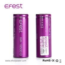 15A Efest IMR 18500 1000mah 3.7V rechargeable purple battery with button top
