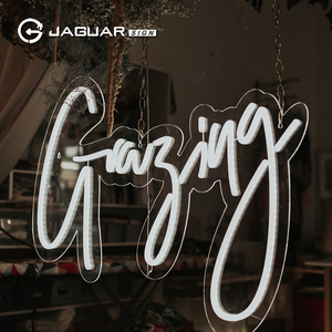 Custom made good looking shop name led lighted neon sign