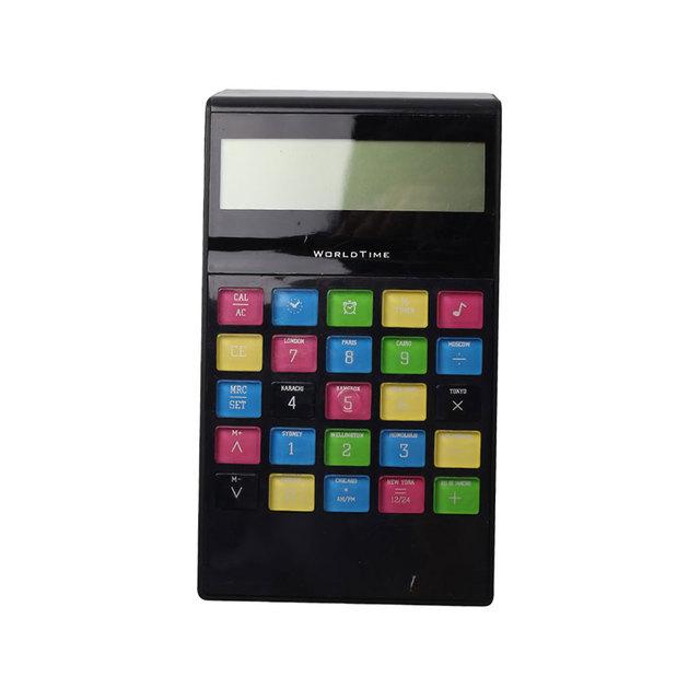 10 Digit Calendar Desk Office Calculator with World Time