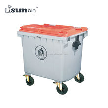 Outdoor color coded garbage bins 1100 liter