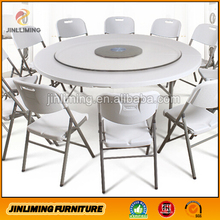 6ft white plastic outdoor folding round table JLM-966