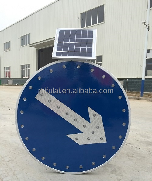 Factory direct sale outdoor portable solar arrow sign for road safety