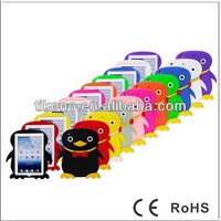 hot sale soft colorful cute penguin silicon case for ipad mini
