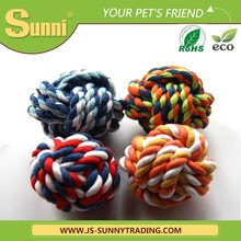 Cheap wholesale custom made dog toys cotton rope