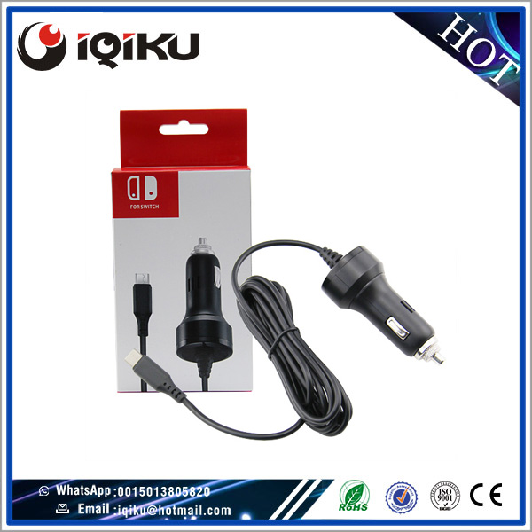 High Speed Car Charger Adapter With USB Charging Cable For Nintendo Switch Console