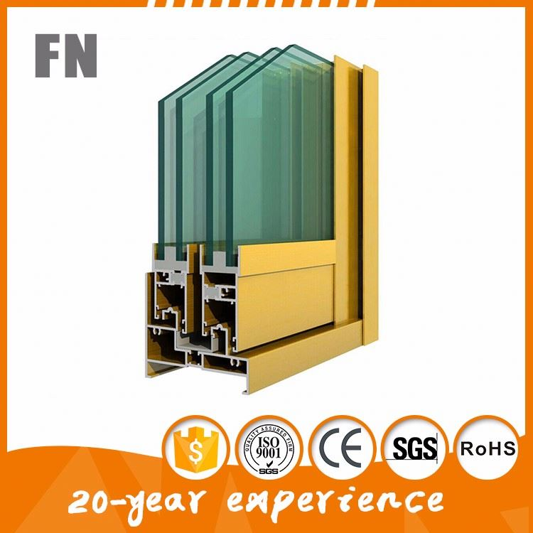 aluminum extrusions of sliding window screen frame parts