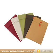 Hot sale eco-friendly washable kraft paper file folder bag