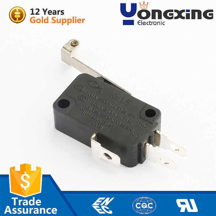 KW15 3 pin ip68 symbol subminiature t150 5e4 cz85102 t125 microswitch roller switch for micro