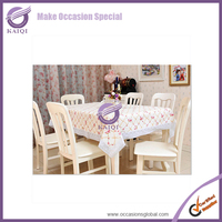 K4932 pvc table cloth for decoration wedding