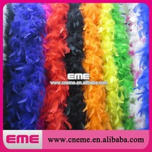 Wholesale colorful Thick Fluffy Turkey Feather Boa